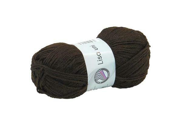 Schulwolle Lisa - 50 g, dunkelbraun