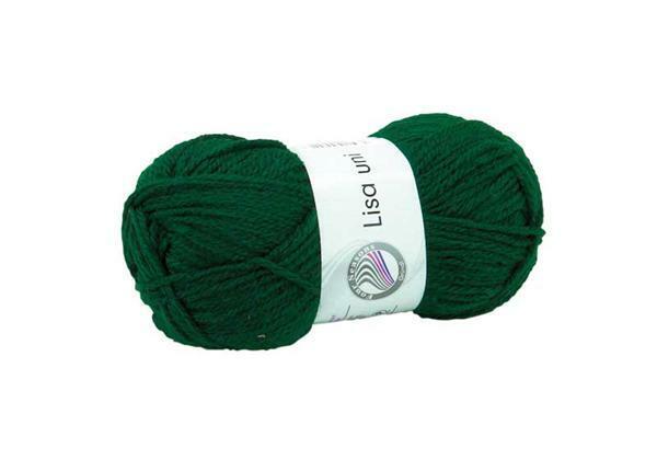 Schulwolle Lisa - 50 g, grün