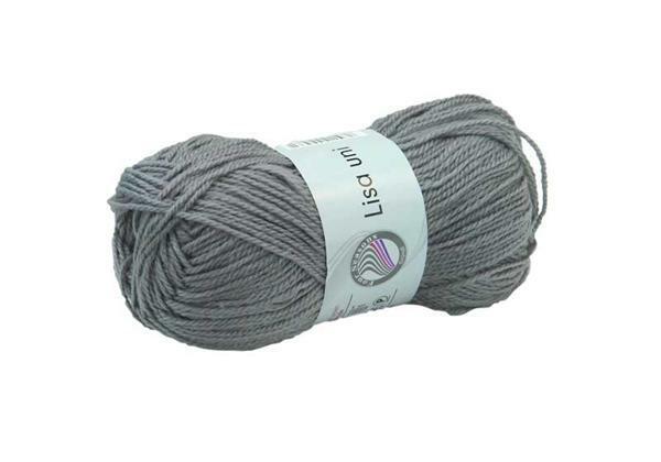Schoolwol Lisa - 50 g, grijs