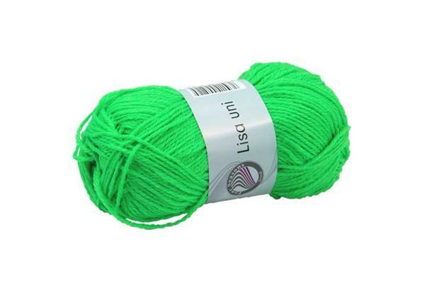 Laine Lisa - 50 g, vert néon