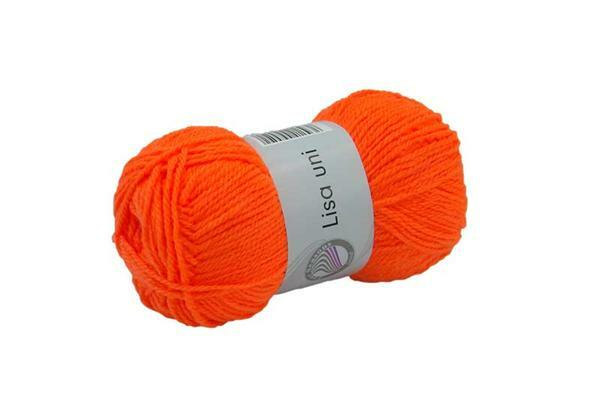 Laine Lisa - 50 g, orange néon