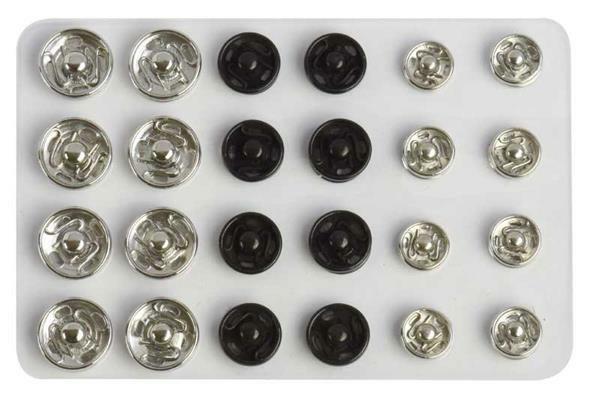 Drukknopen - 24 stuks, Ø 6, 8 en 10 mm