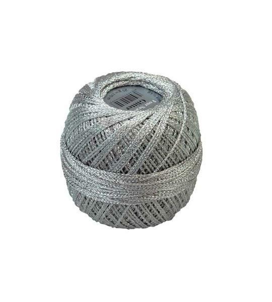 Häkelgarn - 25 g, silber