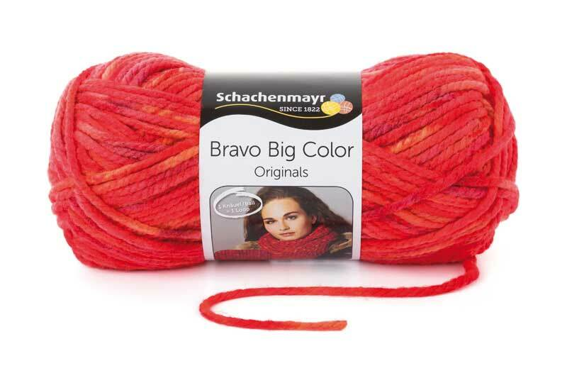 Laine Bravo Big Color - 200 g, feu