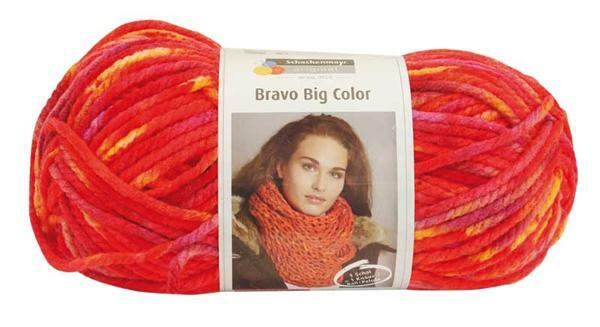 Wolle Bravo Big Color - 200 g, feuer