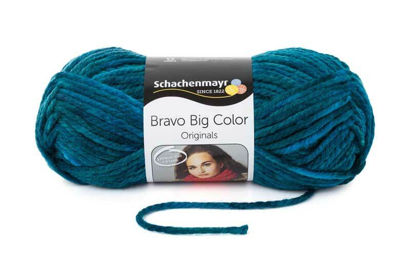 Wolle Bravo Big Color - 200 g, aqua