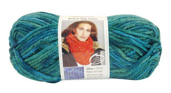 Laine Bravo Big Color - 200 g, aqua