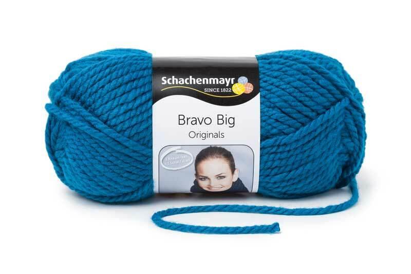 Wol Bravo Big - 200 g, saffierblauw