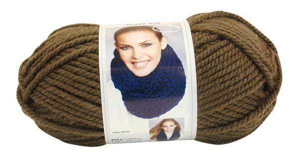 Wolle Bravo Big - 200 g, taupe