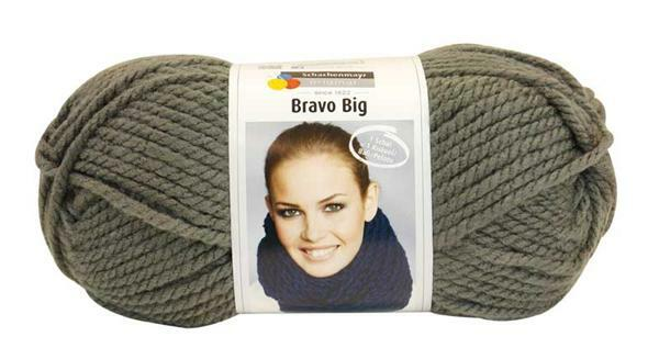 Wolle Bravo Big - 200 g, graphit