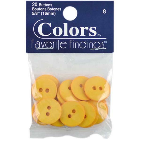 Knopen - Ø 15 mm, geel