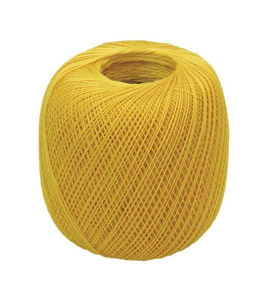 Fil à crocheter - n° 16, jaune