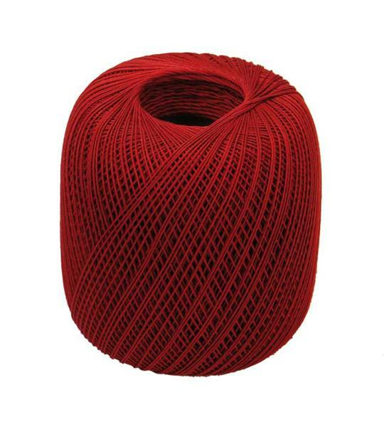 Fil à crocheter - n° 16, rouge