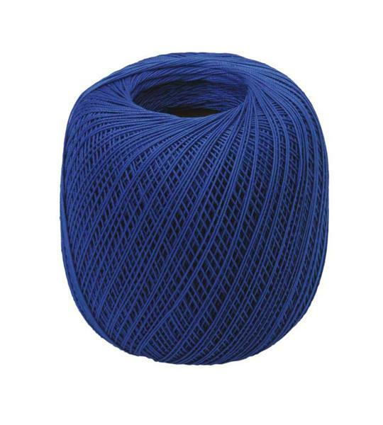 Fil à crocheter - n° 16, bleu royal