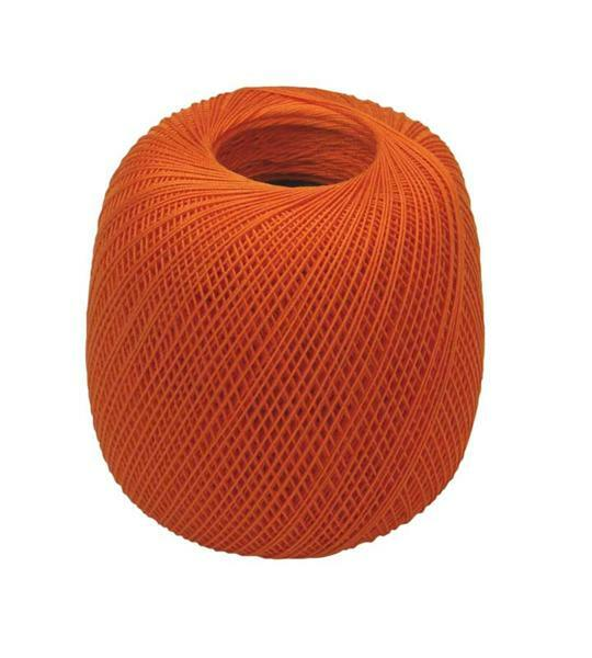 Fil à crocheter - n° 16, orange
