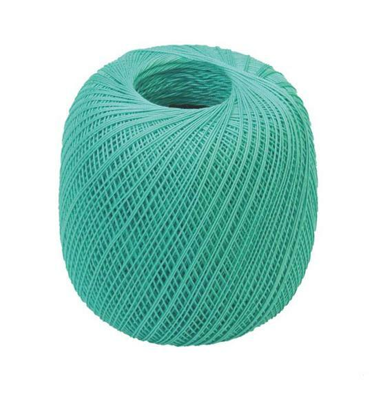Fil à crocheter - n° 16, turquoise