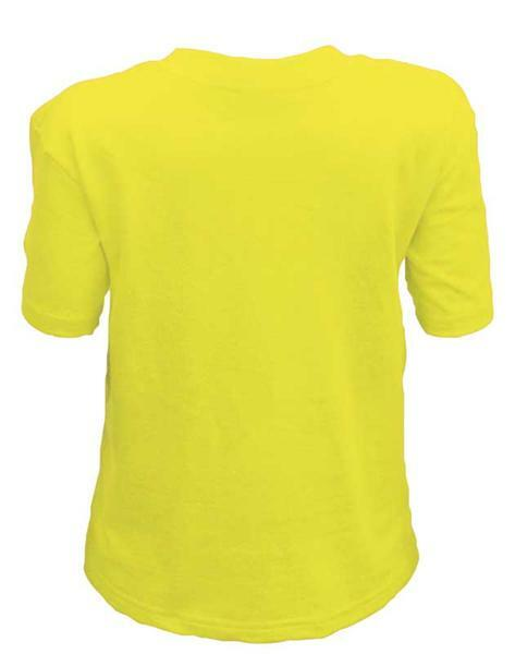 T-shirt kind - geel, L