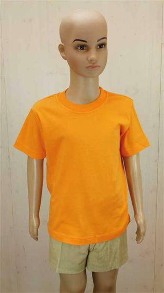T-Shirt Kinder - orange, XS