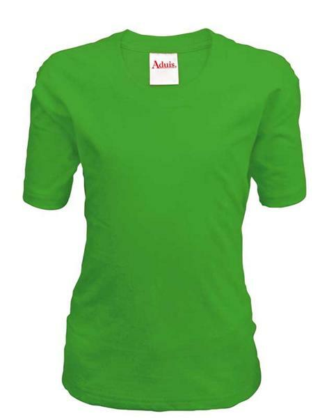 T-shirt kind - groen, L
