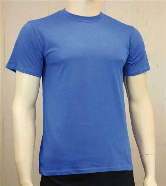 T-shirt man - blauw, XL