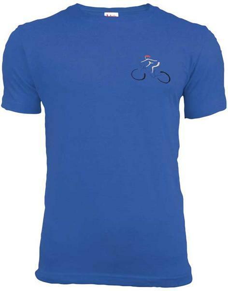 T-shirt man - blauw, L