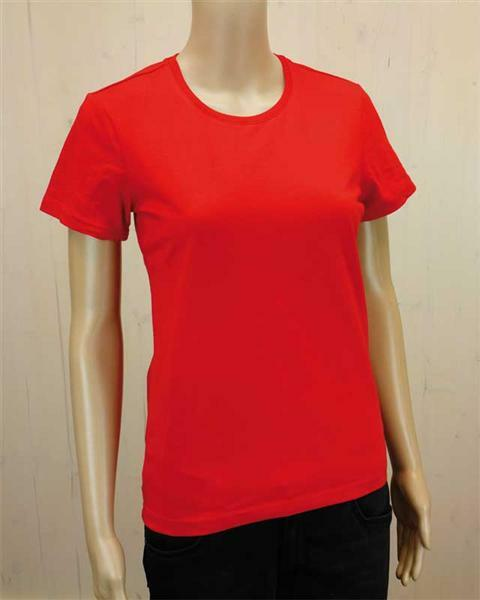 T-Shirt Damen - rot, XL