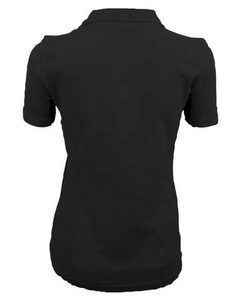 Polo-Shirt Damen - schwarz, L