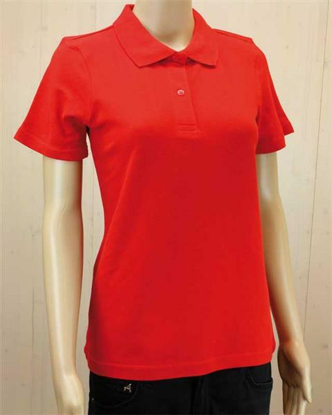 Polo-Shirt Damen - rot, XXL