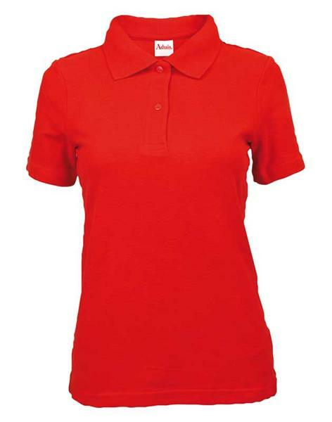 Polo-Shirt Damen - rot, M
