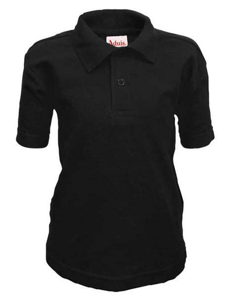 Polo-Shirt Kinder - schwarz, XS