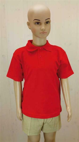 Polo-Shirt Kinder - rot, XL