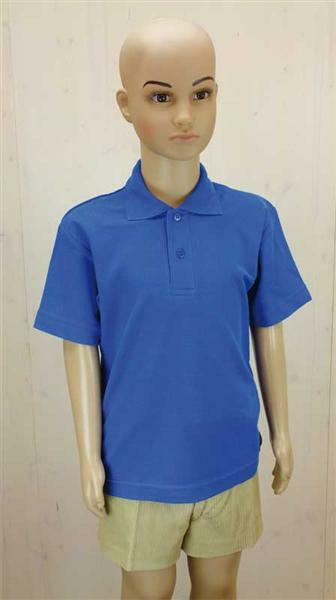 Polo-Shirt Kinder - blau, L