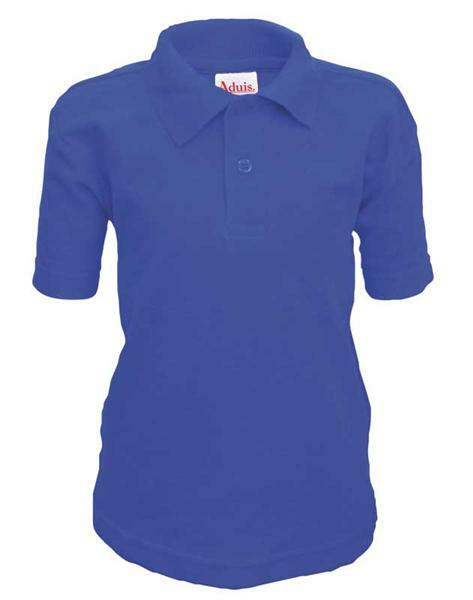 Polo-Shirt Kinder - blau, XS