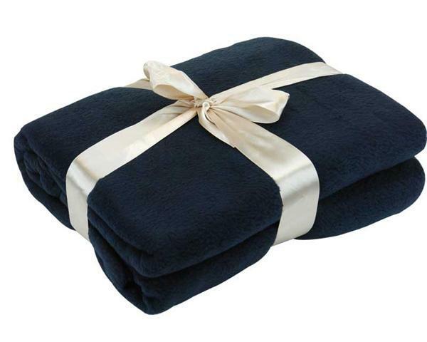 Fleece deken - 130 x 170 cm, donkerblauw