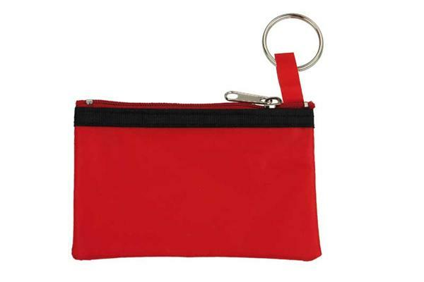 Schlüsseletui - ca. 11 x 7 cm, rot