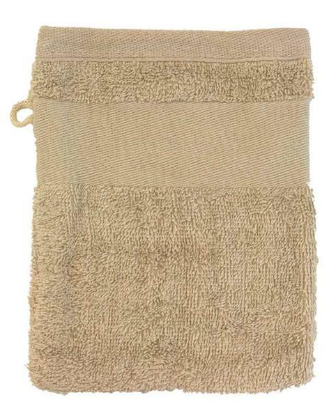 Waschhandschuh - 14,5 x 20 cm, beige