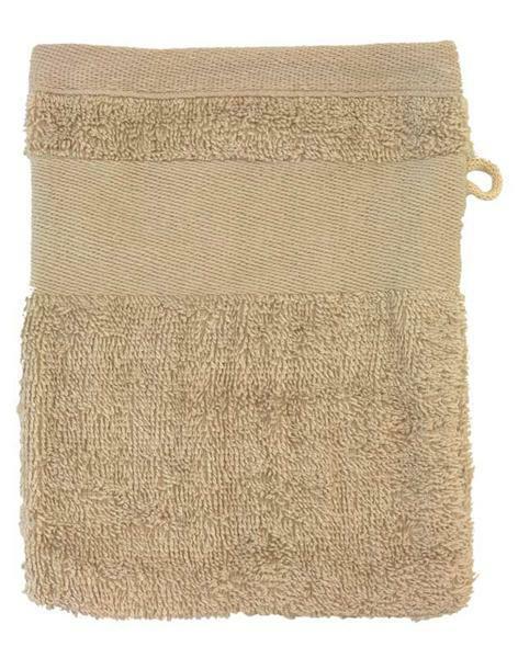 Gant de toilette - 14,5 x 20 cm, beige