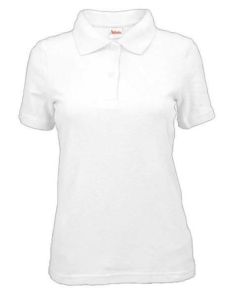 Polo-Shirt Damen - weiß, L