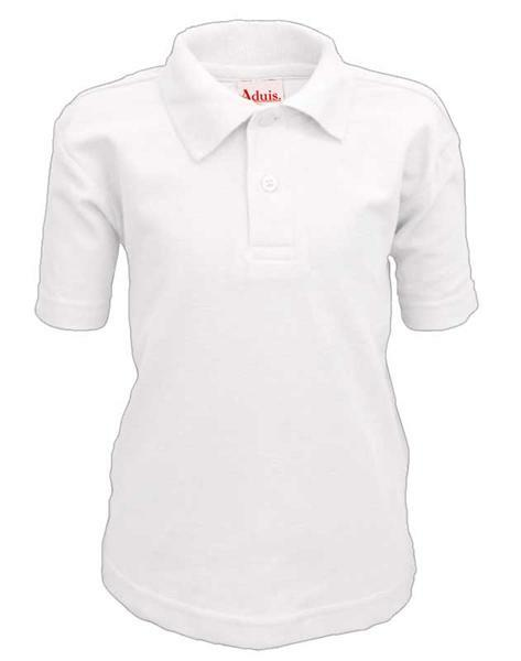 Polo-Shirt Kinder - weiß, S