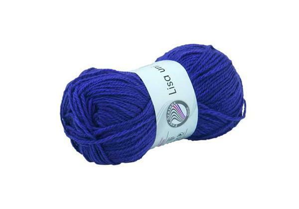 Schulwolle Lisa - 50 g, königsblau