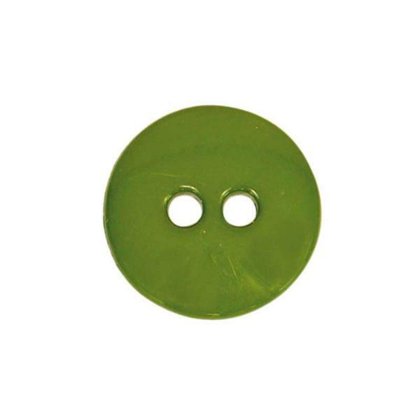 Knöpfe - Ø 15 mm, olivgrün