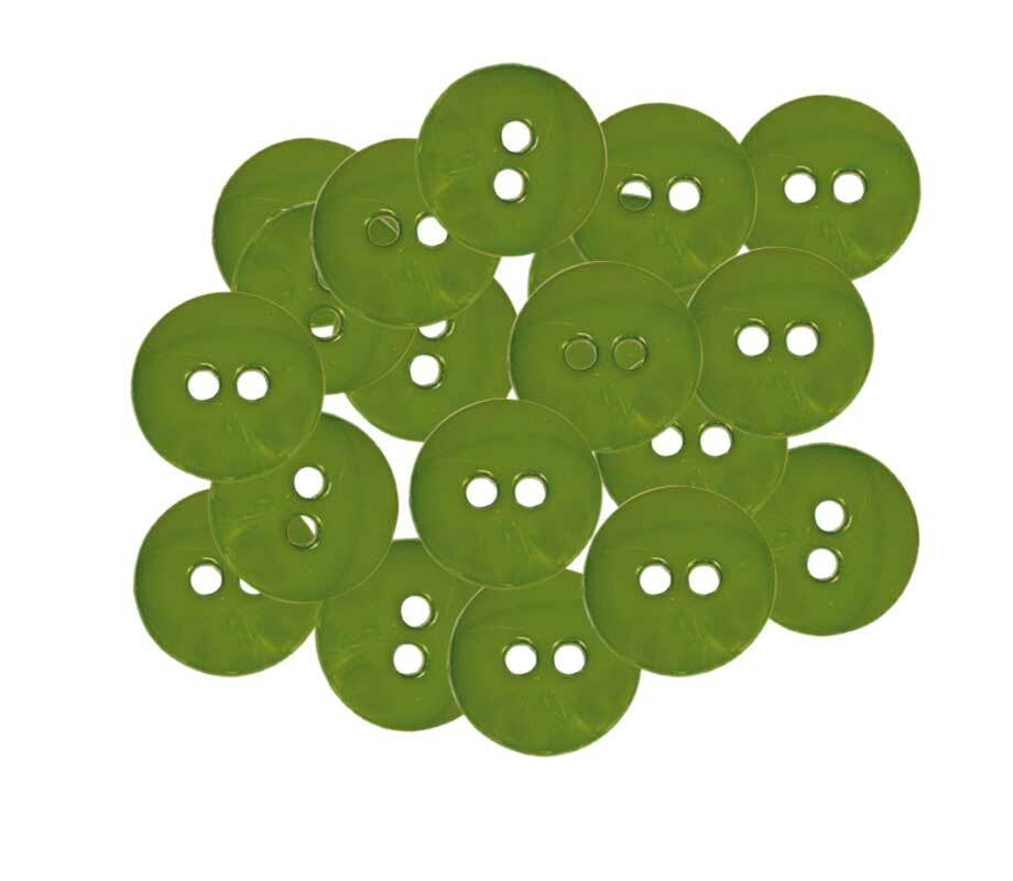 Boutons - Ø 15 mm, vert olive