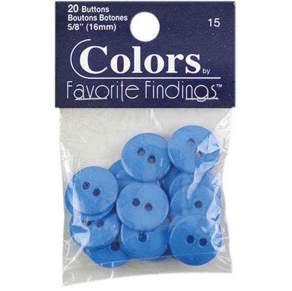 Boutons - Ø 15 mm, bleu