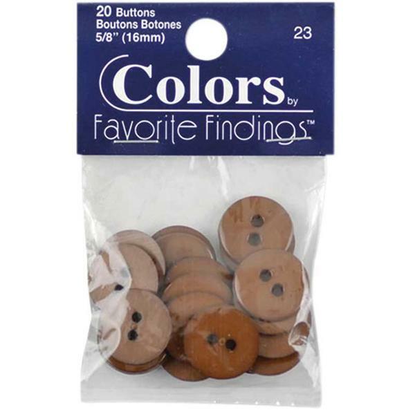 Boutons - Ø 15 mm, brun