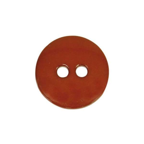 Knöpfe - Ø 15 mm, braun