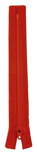Ritssluiting - 18 cm, rood