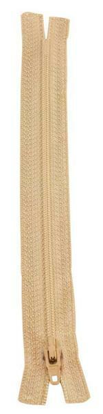 Ritssluiting - 18 cm, beige