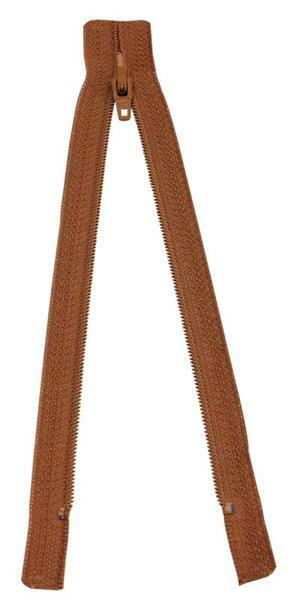Fermeture-éclair - 18 cm, brun