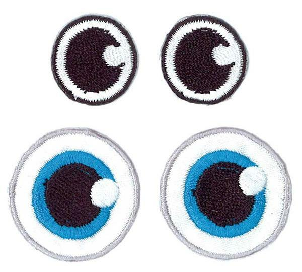 Applikation - Augen, Ø 1,9 + 2,8 cm