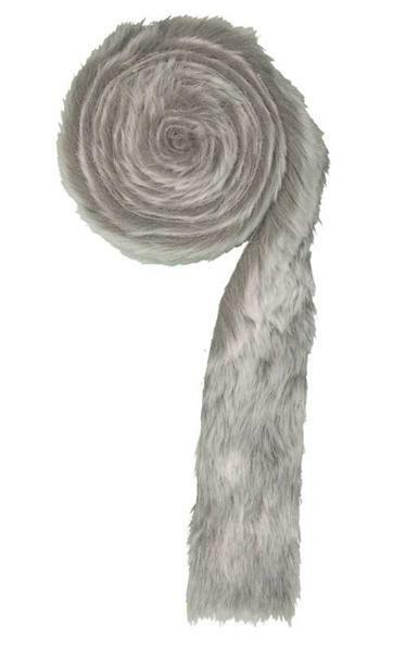 Kunstfellband, grau